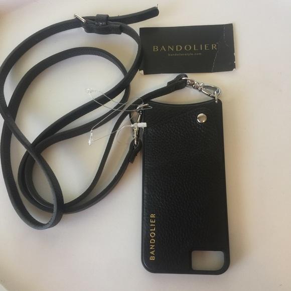 905335367765 Bandolier Accessories - BANDOLIER EMMA LEATHER CROSSBODY IPHONE 6 7 8 case